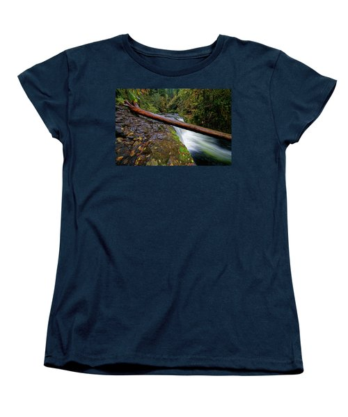 Lower Punch Bowl Falls Women's T-Shirt (Standard Cut) by Jonathan Davison