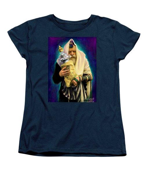 Lubavitcher Rebbe With Torah Women's T-Shirt (Standard Cut)