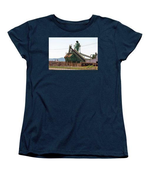 Lumber Mill Sawdust Machinery Women's T-Shirt (Standard Fit)