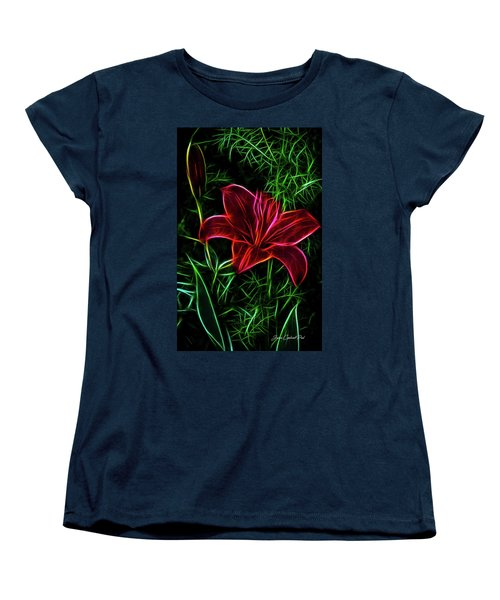 Luminous Lily Women's T-Shirt (Standard Cut) by Joann Copeland-Paul