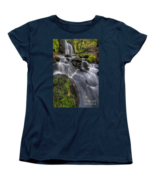 Women's T-Shirt (Standard Cut) featuring the photograph Lumsdale Falls 5.0 by Yhun Suarez