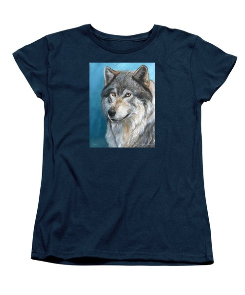 Women's T-Shirt (Standard Cut) featuring the painting Luna by Sherry Shipley