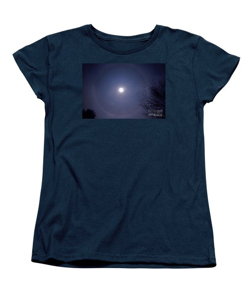 Lunar Corona Women's T-Shirt (Standard Cut) by Sue Stefanowicz