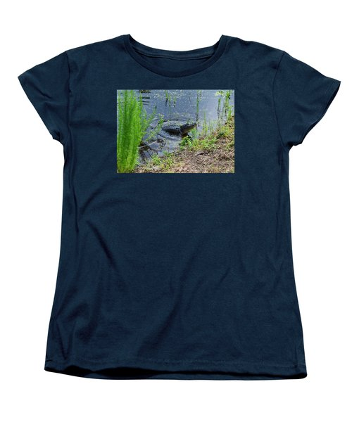 Lunging Bull Gator Women's T-Shirt (Standard Cut) by Warren Thompson