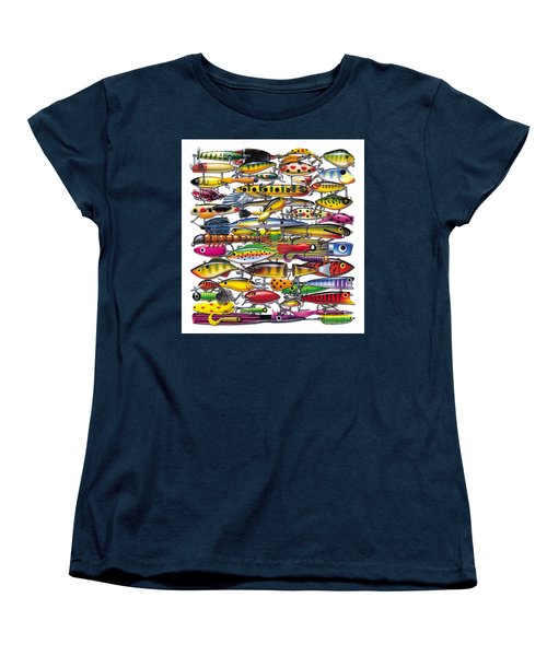 Women's T-Shirt (Standard Cut) featuring the painting Lured by JQ Licensing