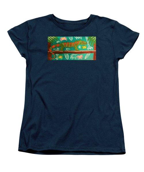 Lurking Iguana Women's T-Shirt (Standard Cut) by Brandon Drucker
