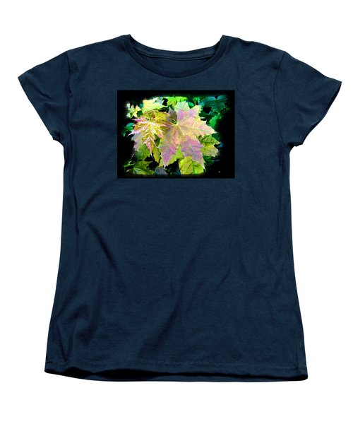 Women's T-Shirt (Standard Cut) featuring the mixed media Lush Spring Foliage by Will Borden