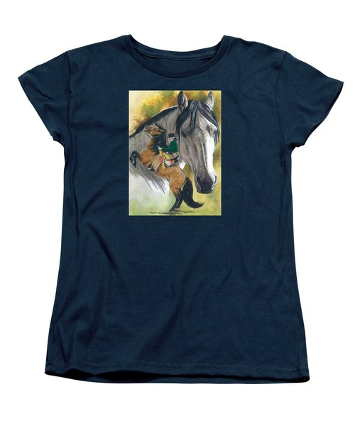 Women's T-Shirt (Standard Cut) featuring the painting Lusitano by Barbara Keith