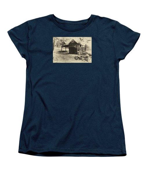 Women's T-Shirt (Standard Cut) featuring the photograph Luxenhaus Cow Barn by William Fields