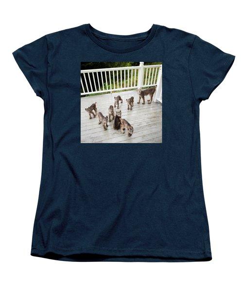 Lynx Family Portrait Women's T-Shirt (Standard Fit)