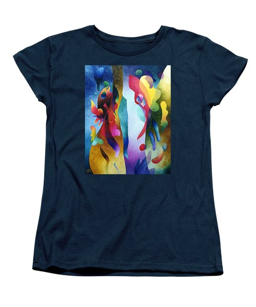 Lyrical Grouping Women's T-Shirt (Standard Cut) by Sally Trace