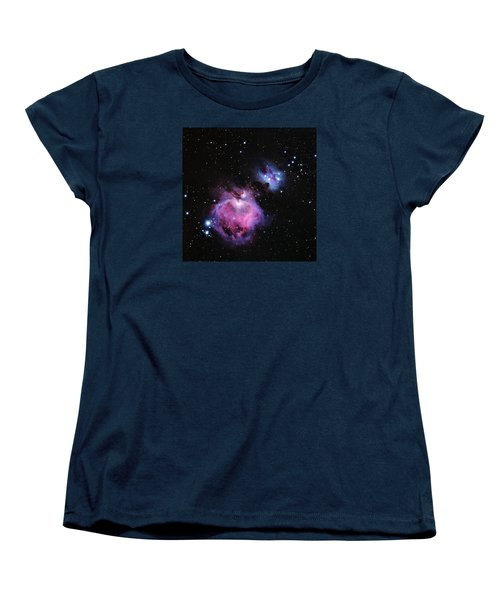 M42--the Great Nebula In Orion Women's T-Shirt (Standard Cut) by Alan Vance Ley