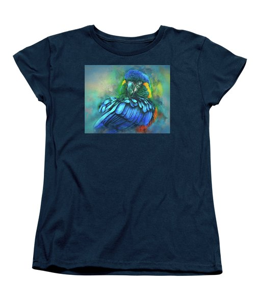 Macaw Magic Women's T-Shirt (Standard Cut) by Brian Tarr