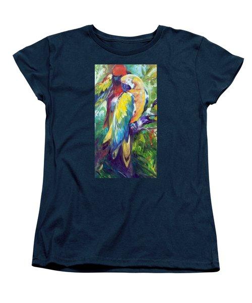 Macaw Pair Women's T-Shirt (Standard Cut) by Marcia Baldwin
