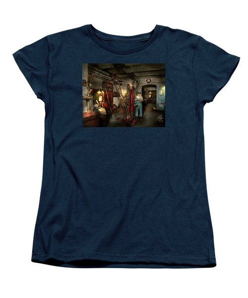 Women's T-Shirt (Standard Cut) featuring the photograph Machinist - Government Approved 1919 by Mike Savad