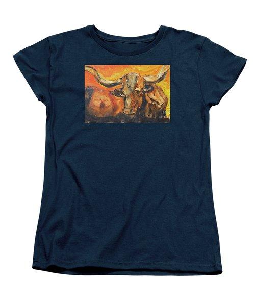 Macho Longhorn Women's T-Shirt (Standard Cut) by Ron Stephens