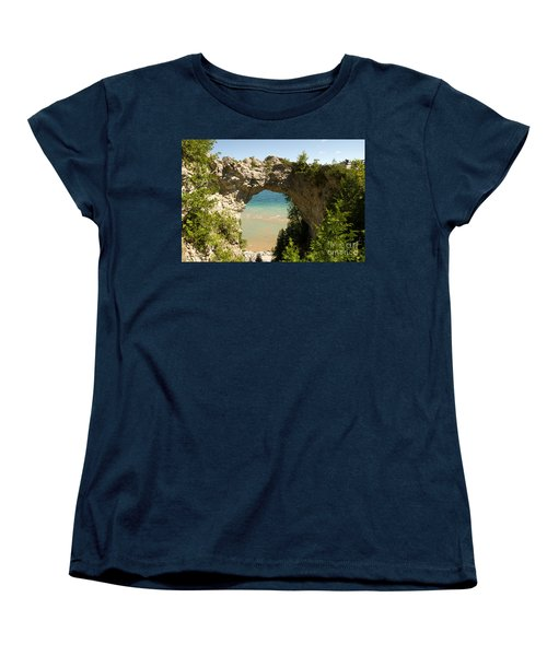 Mackinac Island Arch Women's T-Shirt (Standard Cut) by Larry Carr