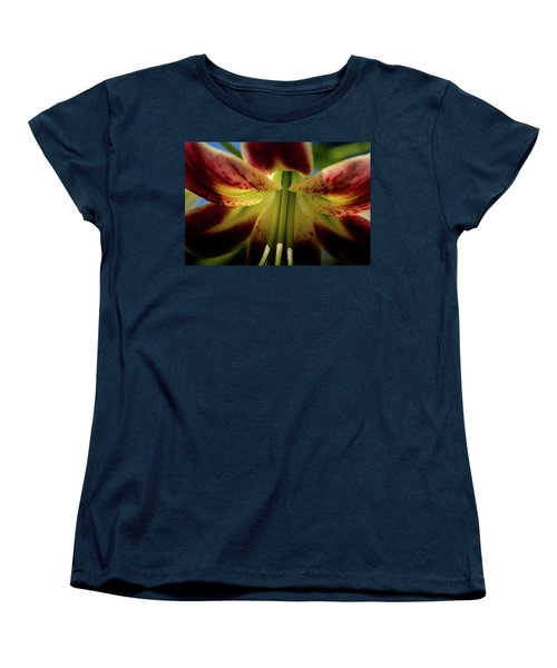 Women's T-Shirt (Standard Cut) featuring the photograph Macro Flower by Jay Stockhaus
