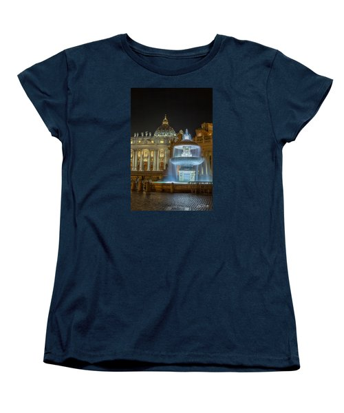 Maderno's Fountain Women's T-Shirt (Standard Cut) by Ed Cilley
