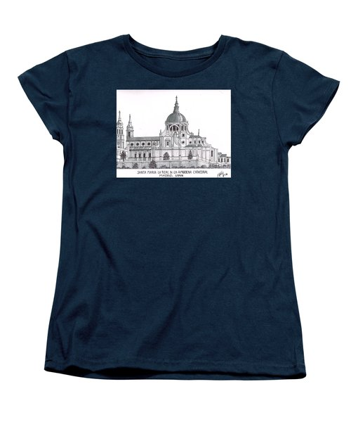 Madrid Cathedral Aimudena Women's T-Shirt (Standard Cut) by Frederic Kohli