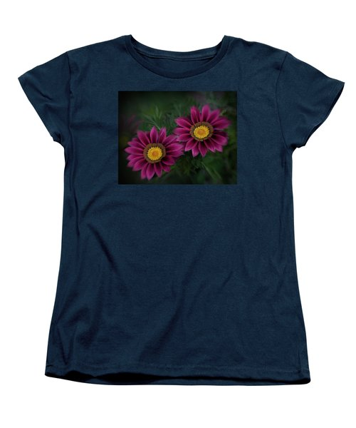 Women's T-Shirt (Standard Cut) featuring the photograph Magenta African Daisies by David and Carol Kelly
