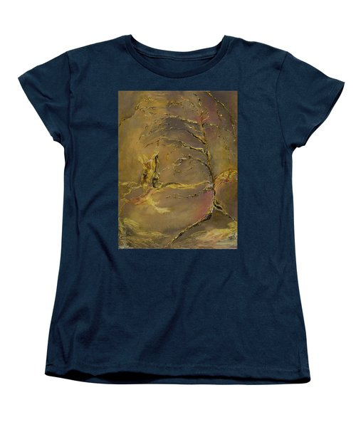 Women's T-Shirt (Standard Cut) featuring the mixed media Magic by Nadine Dennis