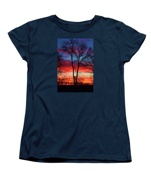 Women's T-Shirt (Standard Cut) featuring the photograph Magical Colors In The Sky by Dacia Doroff