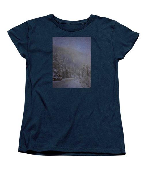 Women's T-Shirt (Standard Cut) featuring the photograph Magical Winter Day by Ellen Heaverlo