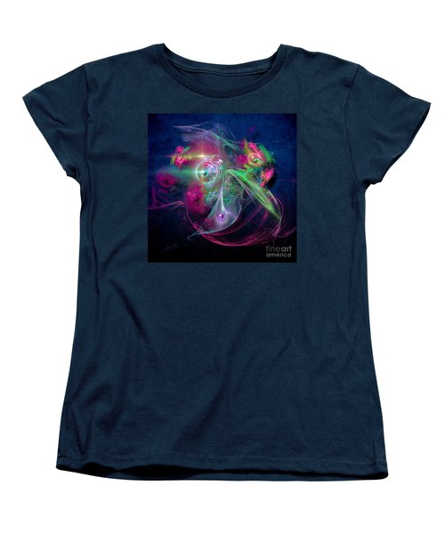 Women's T-Shirt (Standard Cut) featuring the painting Magnetic Fields by Alexa Szlavics