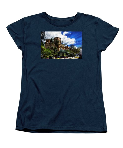 Women's T-Shirt (Standard Cut) featuring the photograph Magnificent Center Of Cuenca, Ecuador IIi by Al Bourassa