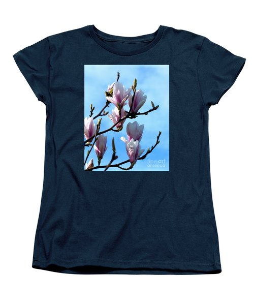 Women's T-Shirt (Standard Cut) featuring the photograph Magnolia Blooms by Stephen Melia