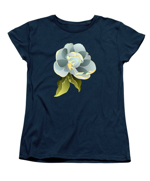 Magnolia Blossom Graphic Women's T-Shirt (Standard Cut) by MM Anderson
