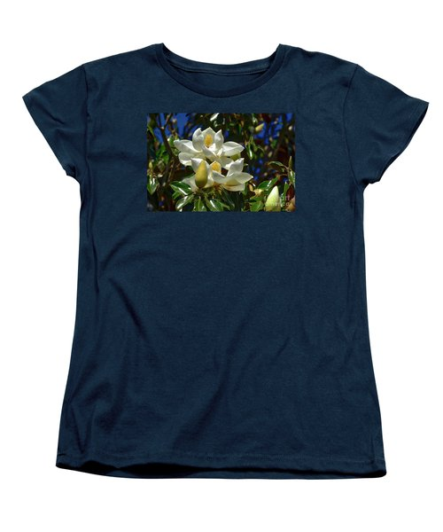 Magnolia Blossoms Women's T-Shirt (Standard Cut) by Kathy Baccari