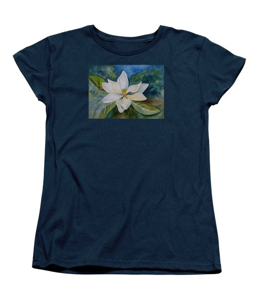 Women's T-Shirt (Standard Cut) featuring the painting Magnolia by Kerri Ligatich