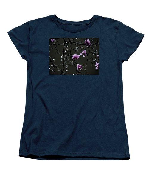 Women's T-Shirt (Standard Cut) featuring the photograph Magnolias In Rain by Rob Amend