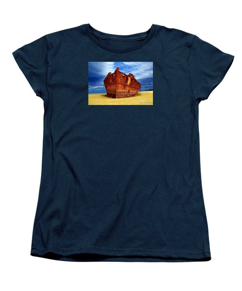 Maheno Shipwreck Fraser Island Queensland Australia Women's T-Shirt (Standard Cut) by Gary Crockett