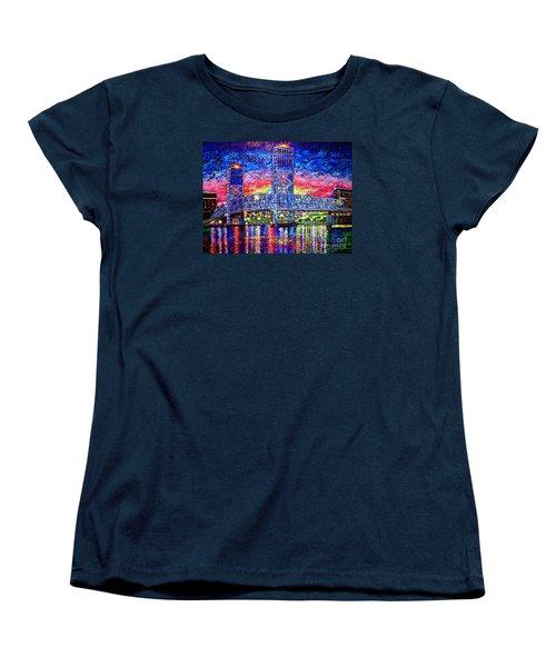Women's T-Shirt (Standard Cut) featuring the painting Main St. Bridge by Viktor Lazarev