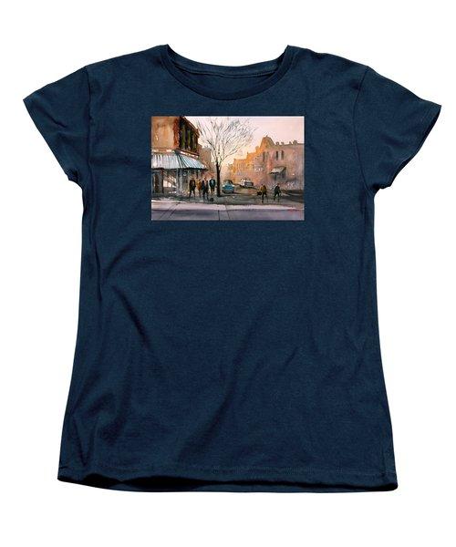 Main Street - Steven's Point Women's T-Shirt (Standard Cut) by Ryan Radke