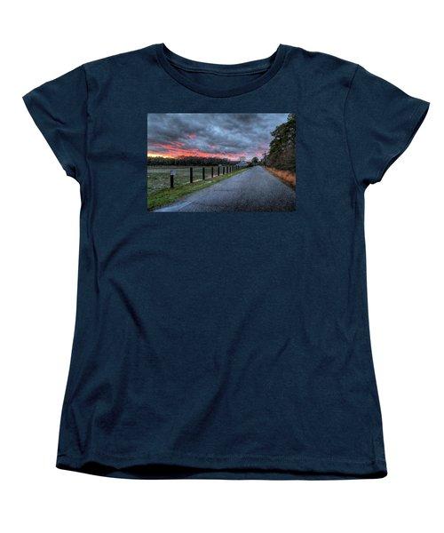 Main Sunset Women's T-Shirt (Standard Cut) by John Loreaux
