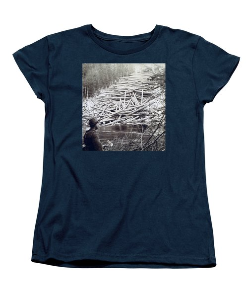 Maine Logging -  C 1903 Women's T-Shirt (Standard Cut) by International  Images