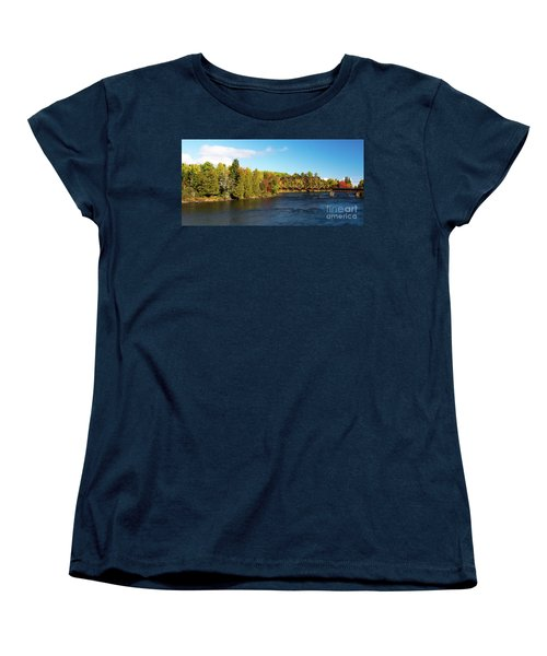 Maine Rail Line Women's T-Shirt (Standard Cut)