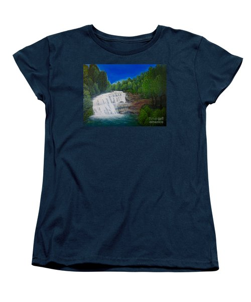 Majestic Bald River Falls Of Appalachia II Women's T-Shirt (Standard Cut) by Kimberlee Baxter