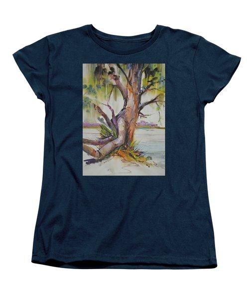 Majestic Live Oak  Women's T-Shirt (Standard Cut) by P Anthony Visco