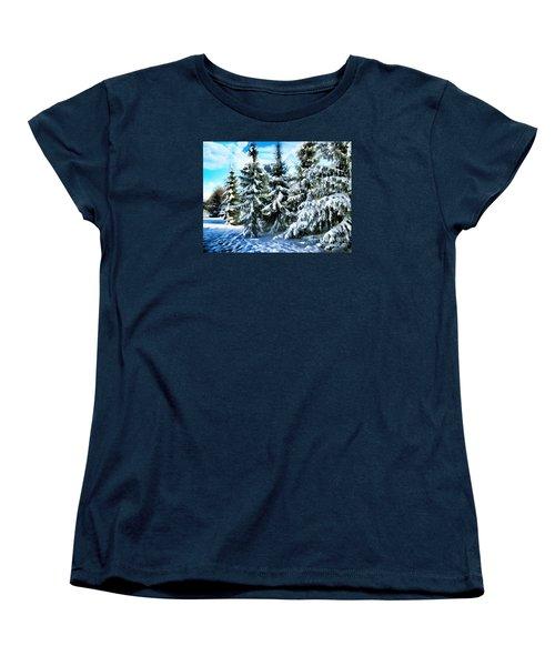 Majestic Winter In New England  Women's T-Shirt (Standard Cut) by Judy Palkimas