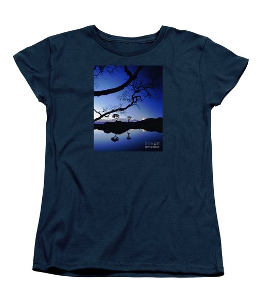 Women's T-Shirt (Standard Cut) featuring the photograph Makalu Nepal At Sunset by Rudi Prott
