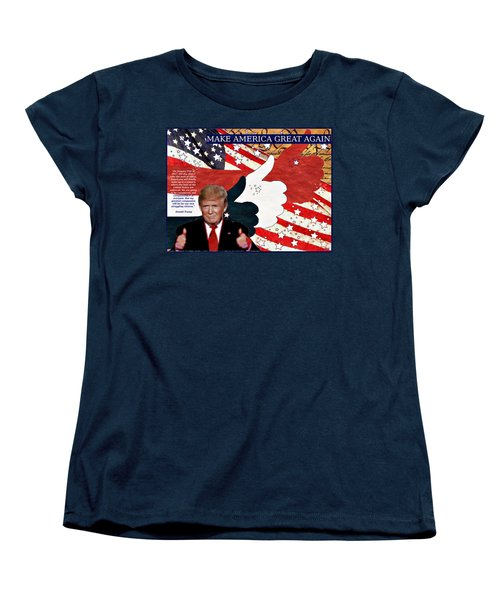 Make America Great Again - President Donald Trump Women's T-Shirt (Standard Cut) by Glenn McCarthy Art and Photography