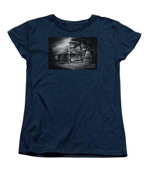 Women's T-Shirt (Standard Cut) featuring the photograph Mala Wharf Showers Lahaina Maui Hawaii by Sharon Mau