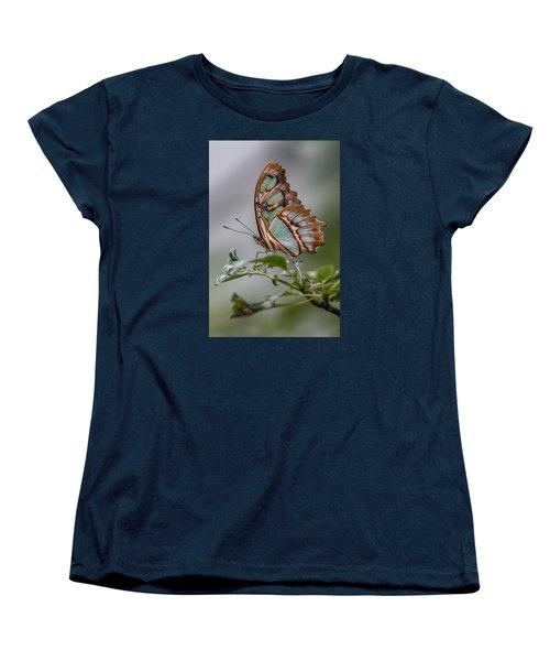 Malachite Butterfly Profile Women's T-Shirt (Standard Cut) by Patti Deters