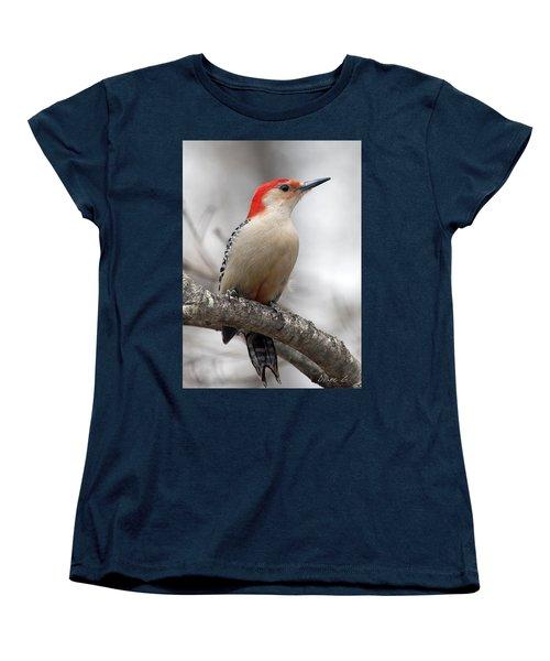Male Red-bellied Woodpecker Women's T-Shirt (Standard Cut) by Diane Giurco