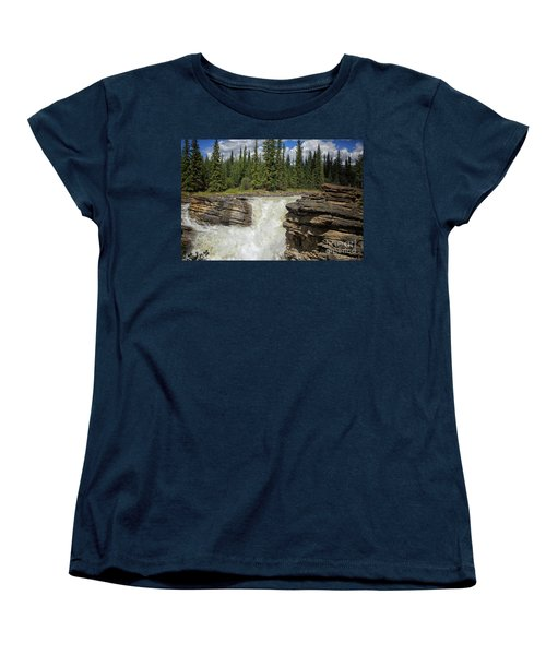 Women's T-Shirt (Standard Cut) featuring the photograph Maligne Canyon by Patricia Hofmeester